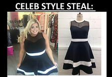 New Gemma Collins Style Skater Dress PARTY PLUS Size 16- 28 LOOK be yours evans