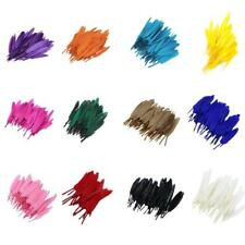 50pcs Natural Goose Feather 15-20cm For Craft Hats Embellishments Material Accs
