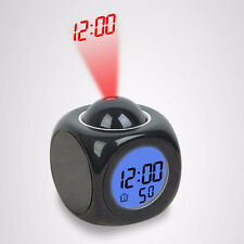 New Alarm Clock Multi-function Digital LCD Voice Sound Talking LED Projection