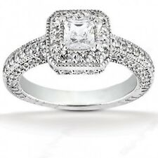 1.69CT Certified Women's Princess Cut Diamond Engagement Ring in 14kt Whit Gold