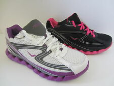 Ladies White/Black Lace Up Ascot Trainers UK Sizes 4 - 8 Spring Wave