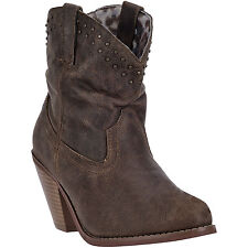 Dingo Womens Brown Fashion Boots Suede Cowboy Boots Slouch