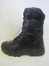 Mens Black Leather Lace Up Footwear Dura-Max Boots 4105