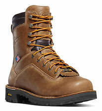 Danner Quarry USA Distressed AT Mens Brown Leather Work Boots 17317