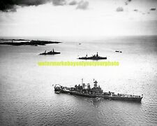 USS North Carolina BB-55 Black n White Photo USN Battleship BB 55  Military