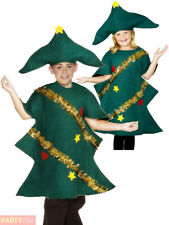 Childs Christmas Tree Costume Boys Girls Festive Fancy Dress Kids Xmas Outfit