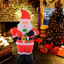 Inflatable outdoor christmas decorations ebay for 4 foot santa claus decoration