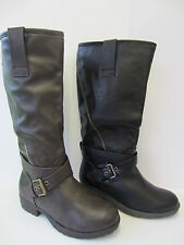 Ladies Black / Brown Spot On Boots UK Sizes 3 - 8 F50168