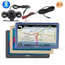 "XGODY 8GB 7"" Lorry Car GPS Navigation FM AV-IN Rearview Backup Camera+Bluetooth"
