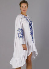 NEW - Fillyboo - Papinelle Dress in White/Blue - Maternity Dress