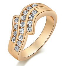 Fashion 18K Gold Filled Charm CZ Band Bride Wedding Ring Size 7 8 9