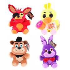 FNAF Five Nights at Freddy's Golden Freddy Chica Bonnie Foxy Plush Toy Doll New