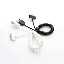 USB 2.0 to 30 Pin Data Sync Charger Spring Coiled Cable For Apple iPhone 4S iPod