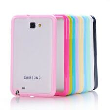 Bumper Transparent Soft Back Case Cover For Samsung Galaxy Note 1 N7000 N7005 4G