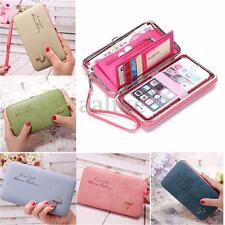 Women Lady Leather Wallet Purse Long Handbag Clutch Bag Phone Card Holder Bifold