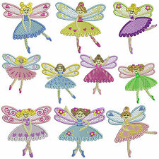 * DANCE FAIRY * Machine Embroidery Patterns * 10 Designs, 2 Sizes
