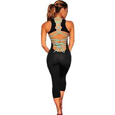 Bodycon Jumpsuits Women Backless Skinny Rompers Bandage Bodysuit Tight Pants