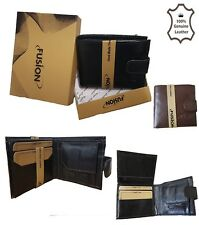 MENS GENTS REAL SOFT QUALITY LEATHER WALLET PURSE CARD HOLDER IN GIFT BOX 6019