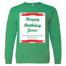 Happy Birthday Jesus - Men's Long Sleeve Anvil fitted tee