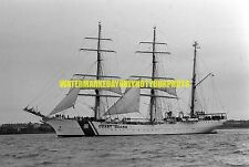 Coast Guard Training Bark USCGC EAGLE WIX 327 Photo Military Black n White USCG