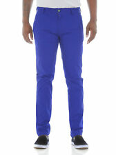 Royal Blue Men's Skinny Fit Stretch Twill Chino Pants