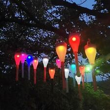 Outdoor Garden Pathway Solar Power LED Lights 4 Color Hook/Stake Landscape Lamp