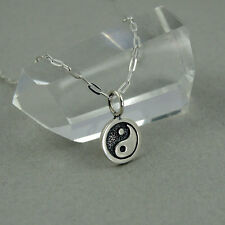 Ying Yang Necklace - 925 sterling silver, tiny ying yang charm