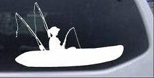 Girl Kayak Fishing Car or Truck Window Laptop Decal Sticker Hunting Boat 6X3.7
