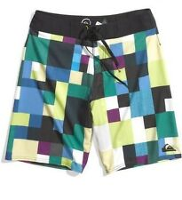 New Quiksilver Cypher At Dawn Boardshorts Lime 4-Way Stretch Surf 38/40 $65