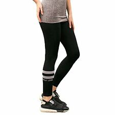 Juniors Stretch Fit Leggings with Double Stripe Design for Yoga, Sports, Running
