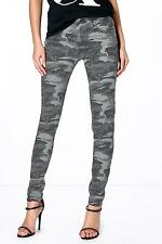 Boohoo Womens Anee Camouflage Print Skinny Jeans