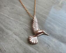 """Humming Bird gold plated sterling silver pendant with 18"""" chain"""