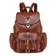 Women's Vintage Genuine Leather Backpack Travel rucksack Shoulder School Bag