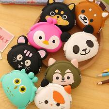 Women Kids Girl Cute Cartoon Animal Silicone Coin Money Cable Storage Bag Wallet