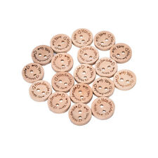 100X Handmade With Love Buttons Scrapbooking Sewing Wood Button25mm 20mm 15mm BH