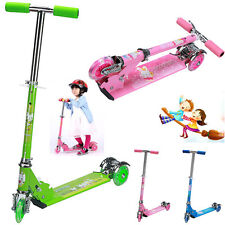 New Folding Kick Scooter Kids 2/3 Wheels Outdoor Ride Push Exercise Scooter Lot