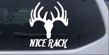 Nice Rack Hunting Decal Car or Truck Window Laptop Decal Sticker Deer 6X5