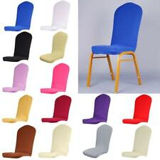 Stretch Dining Room Semicircle Stool Chair Cover Slipcover Wedding Home Decor