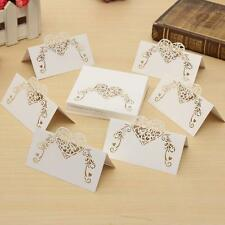50pcs Wedding Name Number Rustic Place Cards Table Wine Glass Guest Favor