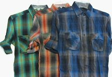 NEW Standard Cloth Flannel Shirt Urban Outfitters 100% Cotton Plaid 3/4 Sleeve
