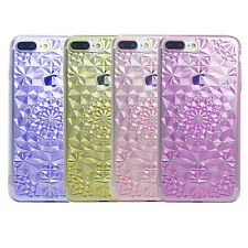 For Iphone 5s 6 6plus 7 7Plus Clear 3D Flower Diamond Gel skin case cover