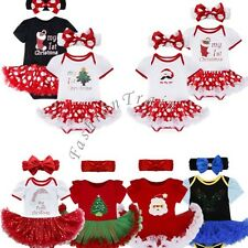 My First Christmas Baby Girls Fancy Tutu Romper Bodysuit Dress Outfit Clothes