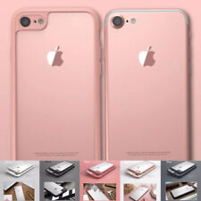 Soft Silicone TPU Bumper+ PC Clear Back Case Cover Skin For Apple iPhone