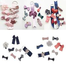 Chic Lovely Toddle Girls Hair Clips Hair Bows with Grosgrain Ribbon Storage Set