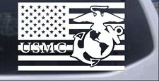 US American Flag USMC Marines Car or Truck Window Laptop Decal Sticker 6X9.4