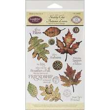 JustRite Stampers Clear STamp Set-Shabby Chic Autumn Leaves 15pc 846981038706