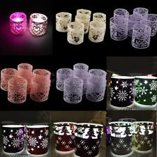 6x Vintage Mix Style Christmas Snowfake Tea Light Candle Holder Wedding Decor