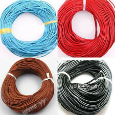 5M Real Leather Rope String Cord Necklace Jewelry Making 1.5mm Free Shipping