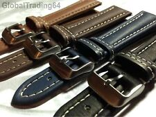 SUPERIOR GRADA ITALIAN PADDED GENUINE LUXURY LEATHER WATCH STRAP 20mm - 26mm