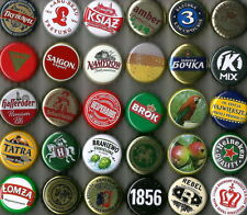 120 USED DIFFERENT BEER and NO BEER BOTTLE CAPS